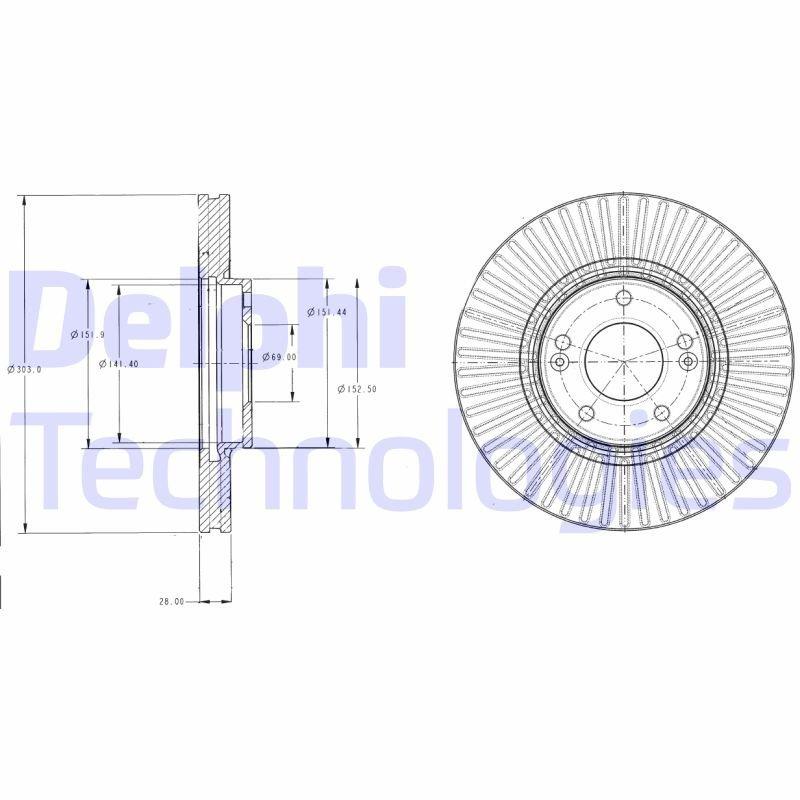 Bremsscheibe DELPHI BG4309 Bild 1