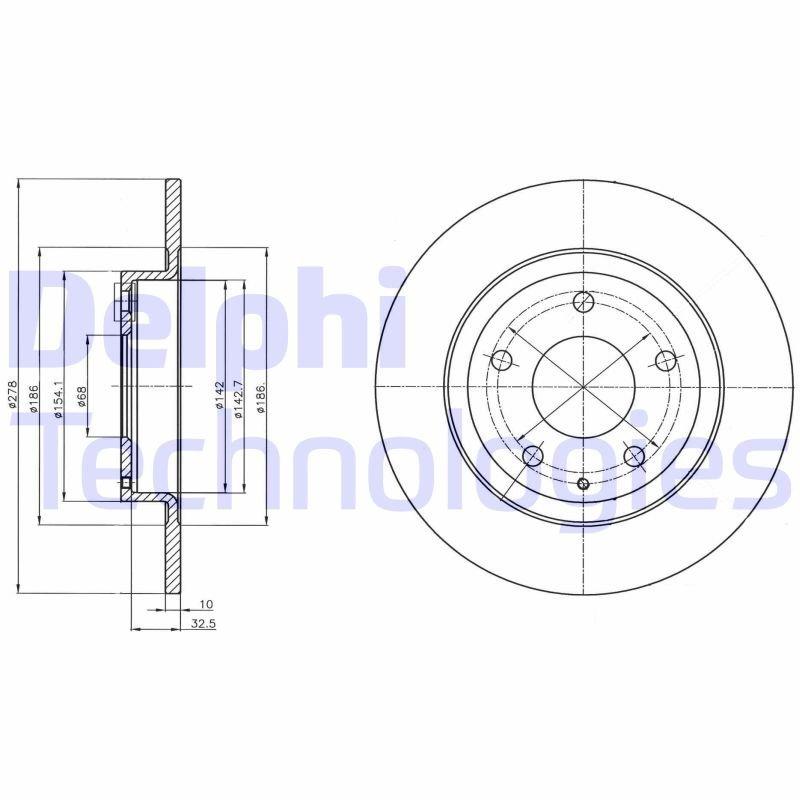 Bremsscheibe DELPHI BG4534C Bild 1