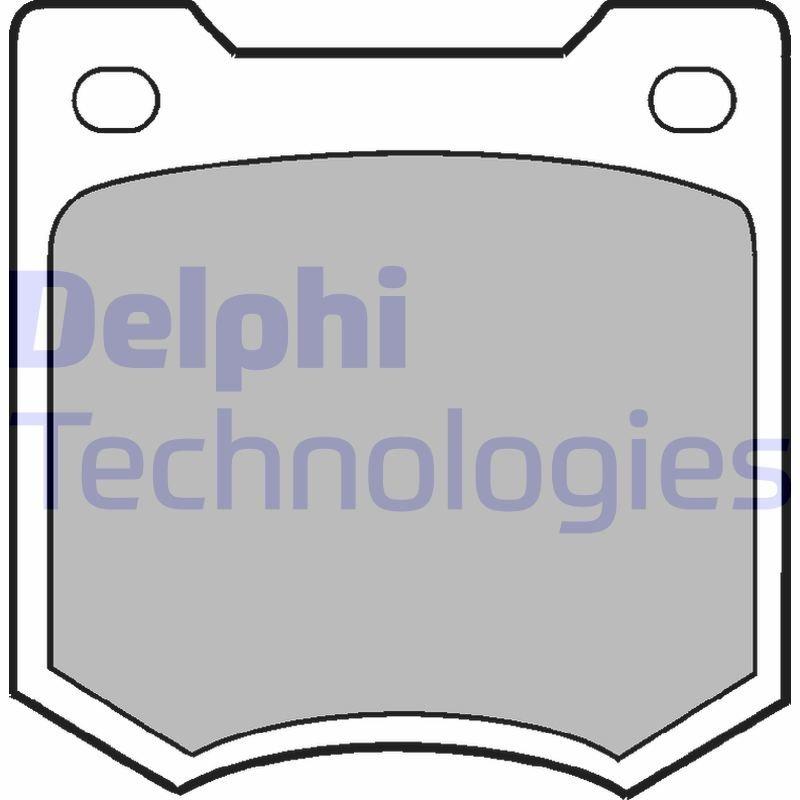 Bremsbelagsatz, Scheibenbremse DELPHI LP23 Bild 1