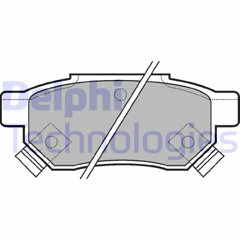 Bremsbelagsatz, Scheibenbremse DELPHI LP625