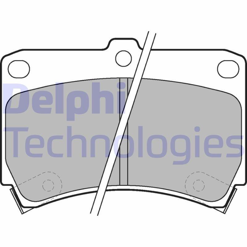 Bremsbelagsatz, Scheibenbremse DELPHI LP743 Bild 1