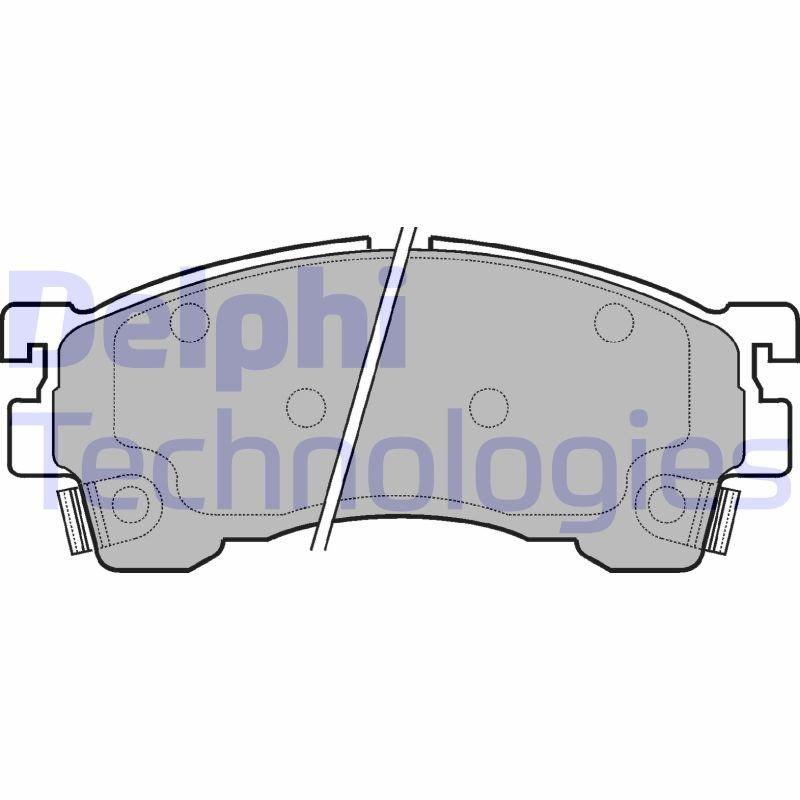 Bremsbelagsatz, Scheibenbremse DELPHI LP801 Bild 1