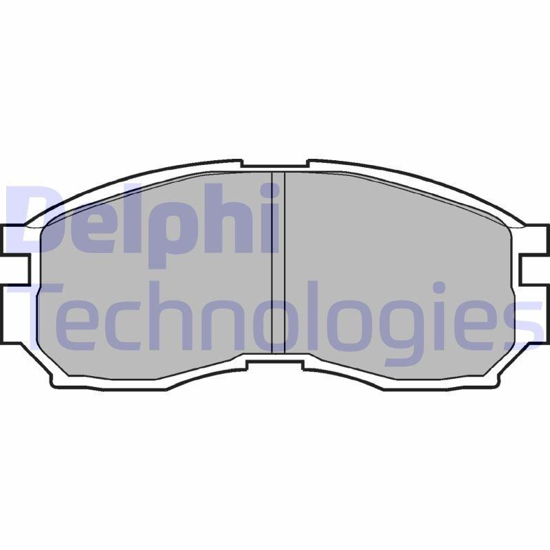Bremsbelagsatz, Scheibenbremse DELPHI LP803