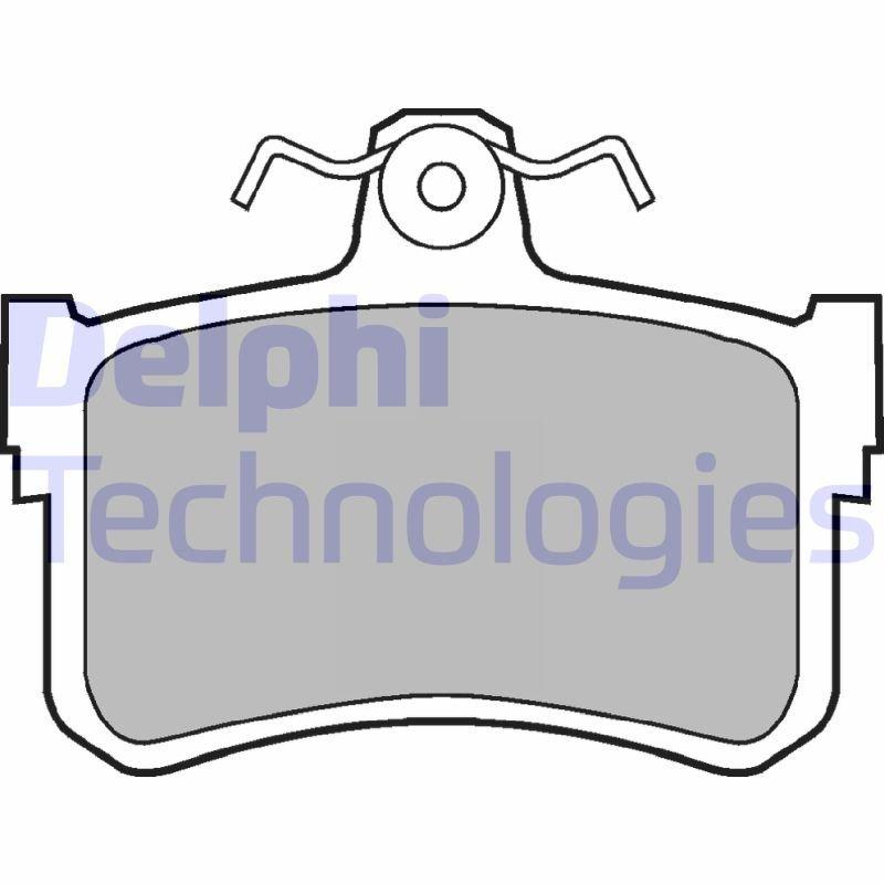 Bremsbelagsatz, Scheibenbremse DELPHI LP880