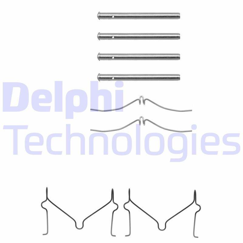 Zubehörsatz, Scheibenbremsbelag DELPHI LX0143