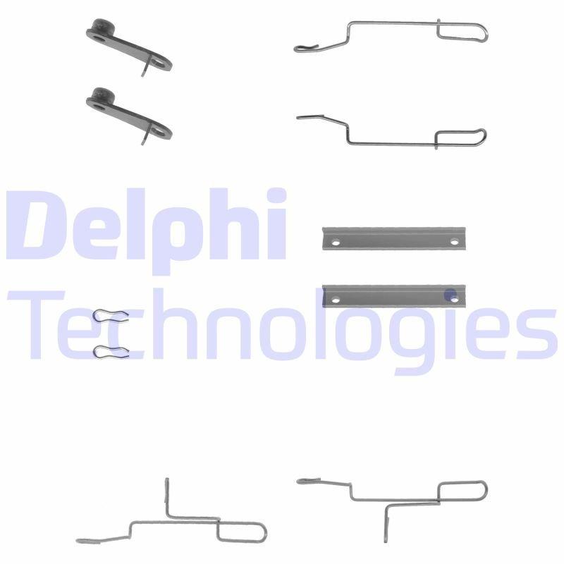 Zubehörsatz, Scheibenbremsbelag DELPHI LX0168