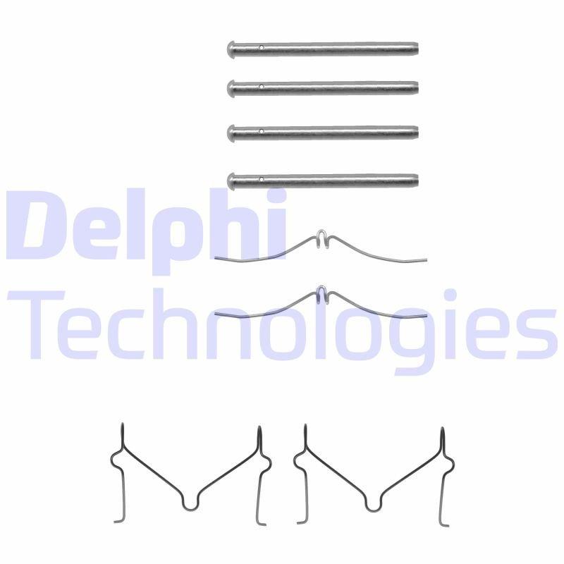 Zubehörsatz, Scheibenbremsbelag DELPHI LX0211
