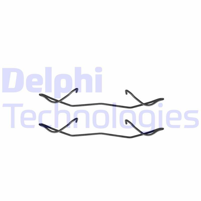 Zubehörsatz, Scheibenbremsbelag DELPHI LX0236