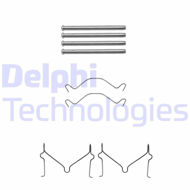 Zubehörsatz, Scheibenbremsbelag DELPHI LX0306
