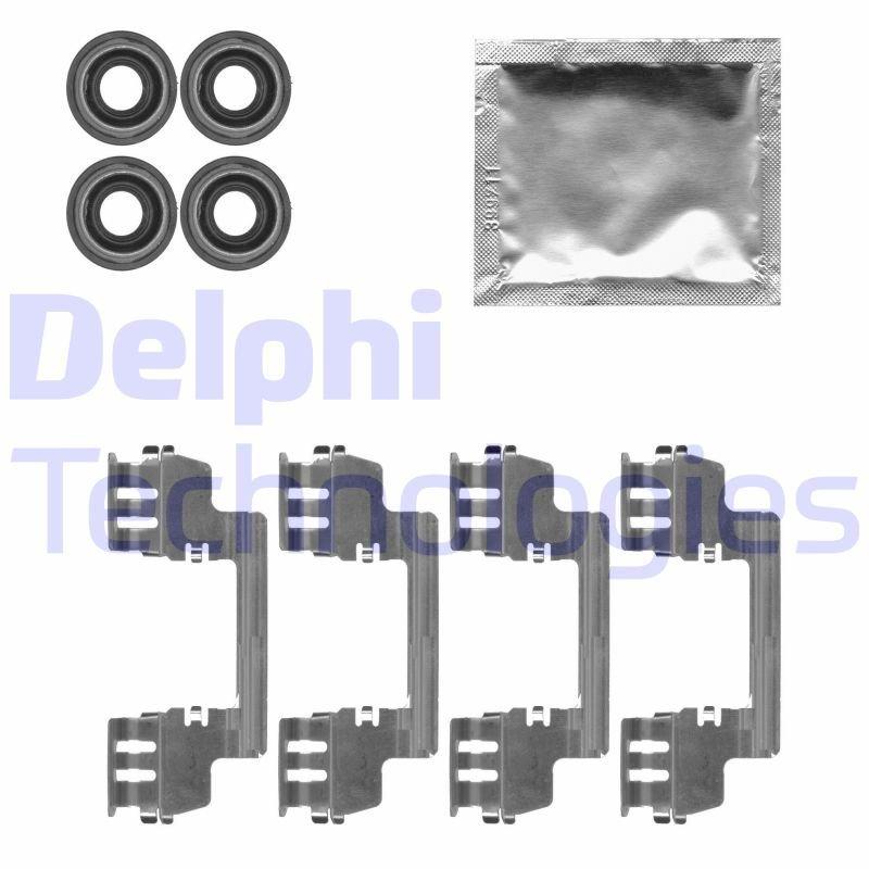 Zubehörsatz, Scheibenbremsbelag DELPHI LX0616