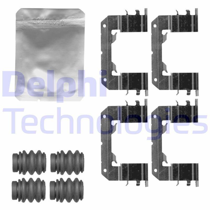 Zubehörsatz, Scheibenbremsbelag DELPHI LX0630 Bild 1