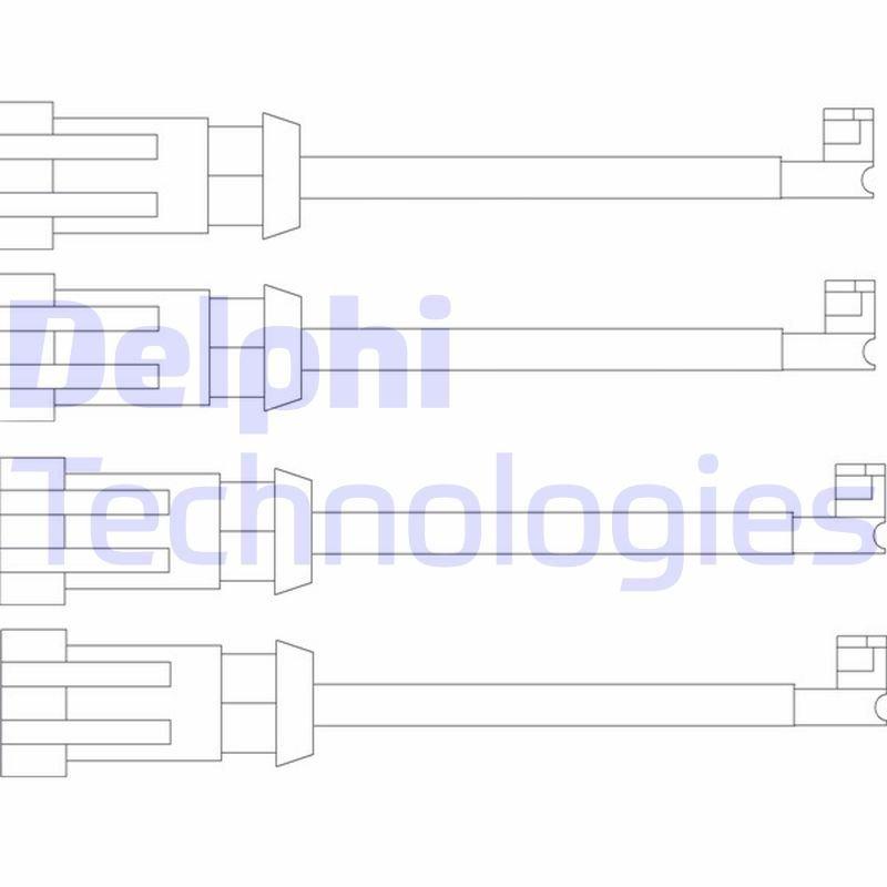 Warnkontaktsatz, Bremsbelagverschleiß  DELPHI LZ0189 Bild 1