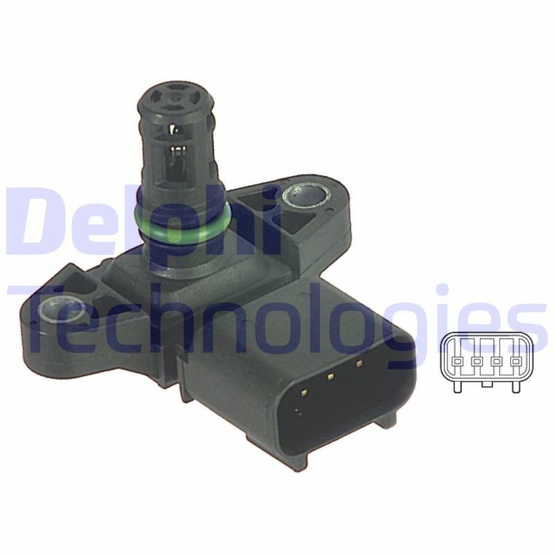 Sensor, Saugrohrdruck DELPHI PS10122