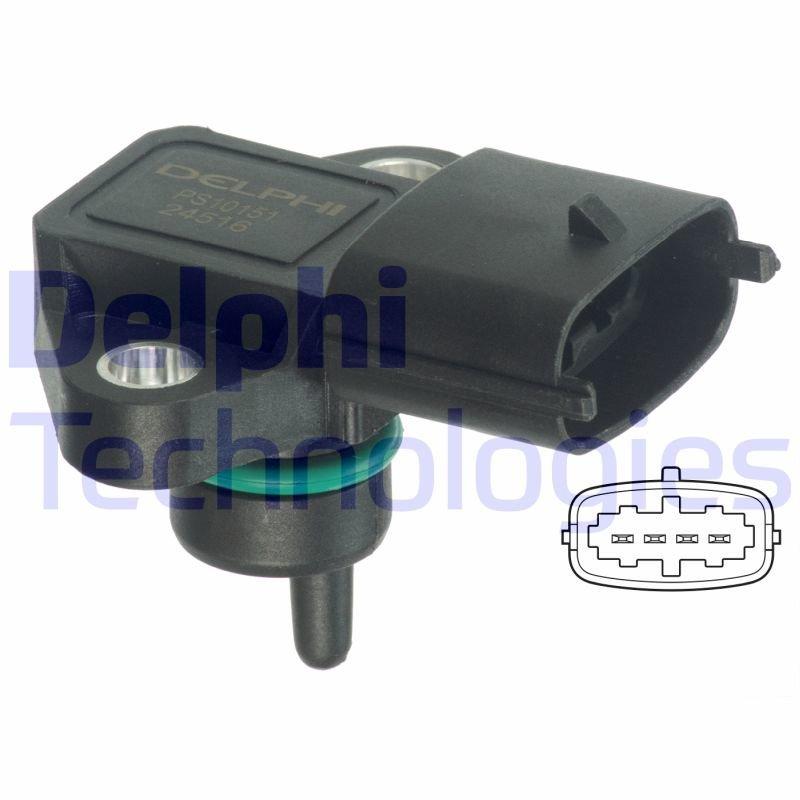 Sensor, Saugrohrdruck DELPHI PS10151 Bild 1