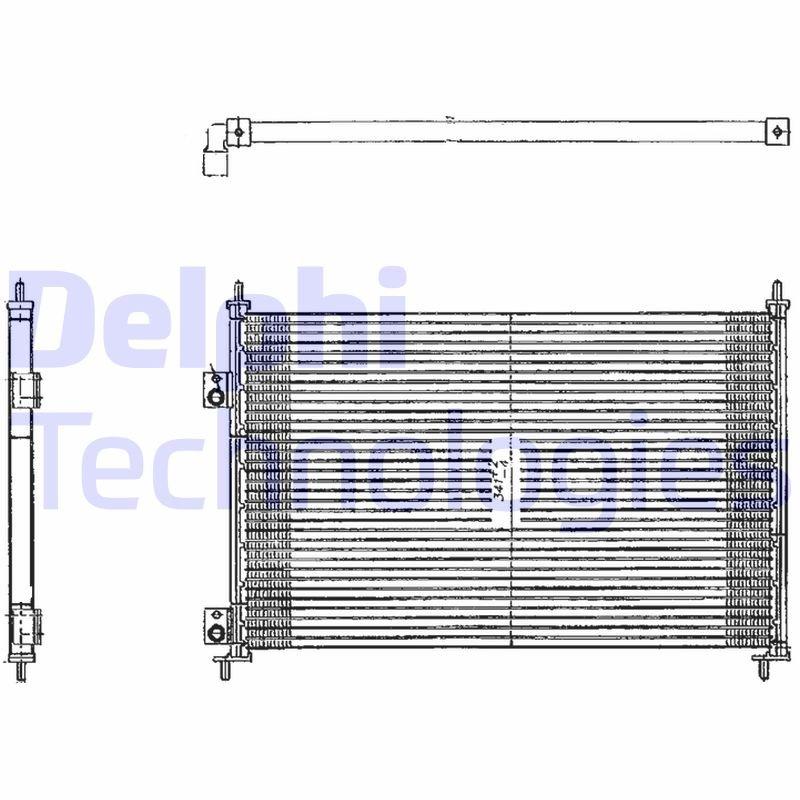 Kondensator, Klimaanlage DELPHI TSP0225209 Bild 1
