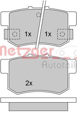 Bremsbelagsatz, Scheibenbremse Hinterachse METZGER 1170213