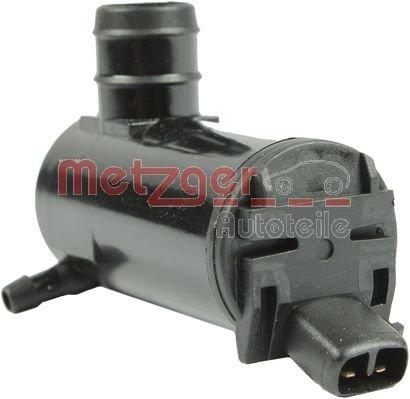 Waschwasserpumpe, Scheibenreinigung 12 V vorne METZGER 2220050