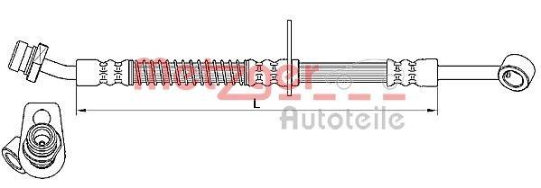 Bremsschlauch METZGER 4110556