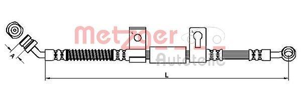 Bremsschlauch METZGER 4110828