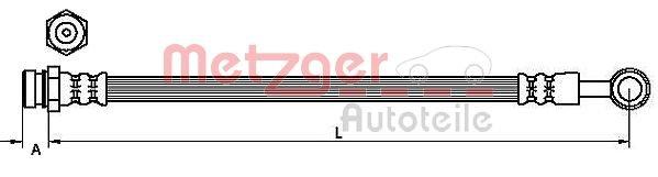 Bremsschlauch METZGER 4110829