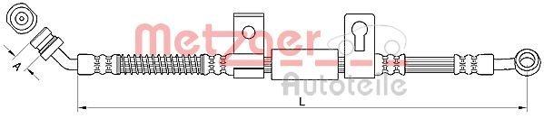 Bremsschlauch METZGER 4110830