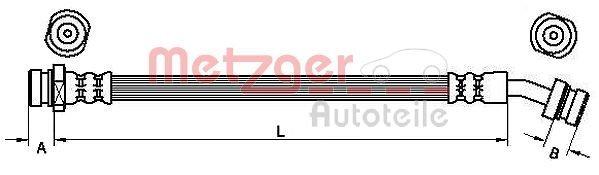 Bremsschlauch METZGER 4110833