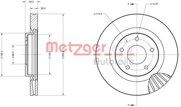 Bremsscheibe METZGER 6110753