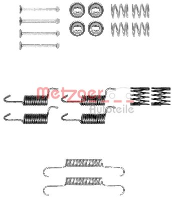 Zubehörsatz, Feststellbremsbacken METZGER 105-0010