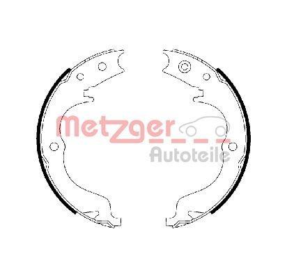 Bremsbackensatz, Feststellbremse Hinterachse METZGER MG 110