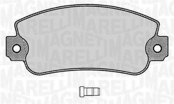 Bremsbelagsatz, Scheibenbremse MAGNETI MARELLI 363916060212