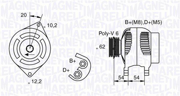 Generator 12 V MAGNETI MARELLI 063321729010