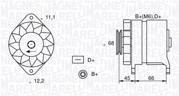 Generator 12 V MAGNETI MARELLI 063321112010