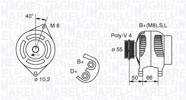 Generator 12 V MAGNETI MARELLI 063321607010