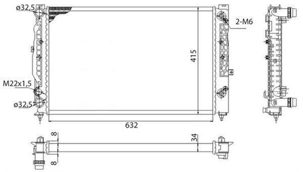 Kühler, Motorkühlung MAGNETI MARELLI 350213739003