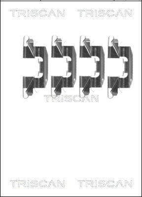 Zubehörsatz, Scheibenbremsbelag TRISCAN 8105 141598