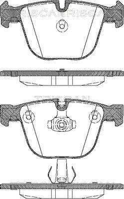 Bremsbelagsatz, Scheibenbremse TRISCAN 8110 11018