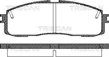 Bremsbelagsatz, Scheibenbremse TRISCAN 8110 13152