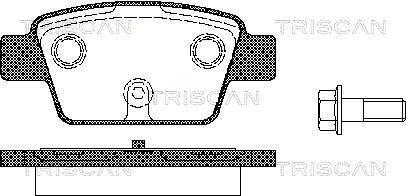 Bremsbelagsatz, Scheibenbremse TRISCAN 8110 15018