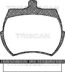 Bremsbelagsatz, Scheibenbremse TRISCAN 8110 17019