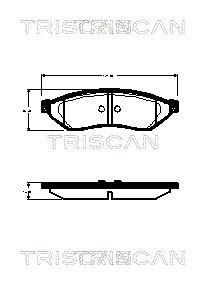 Bremsbelagsatz, Scheibenbremse TRISCAN 8110 21009