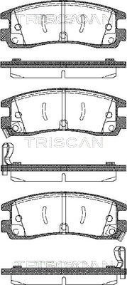 Bremsbelagsatz, Scheibenbremse TRISCAN 8110 24015
