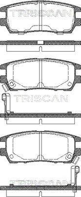 Bremsbelagsatz, Scheibenbremse TRISCAN 8110 42003