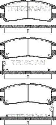 Bremsbelagsatz, Scheibenbremse TRISCAN 8110 42006