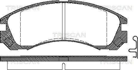 Bremsbelagsatz, Scheibenbremse TRISCAN 8110 42013