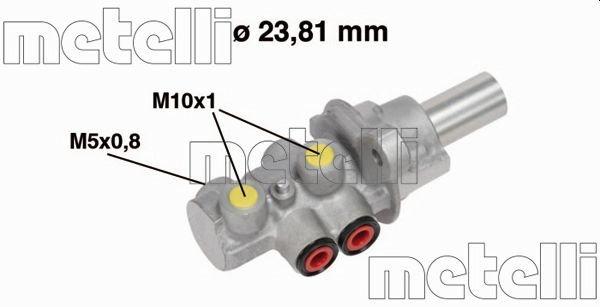 Hauptbremszylinder METELLI 05-0683