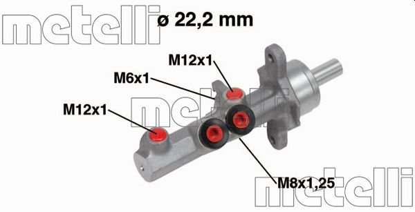 Hauptbremszylinder METELLI 05-0721