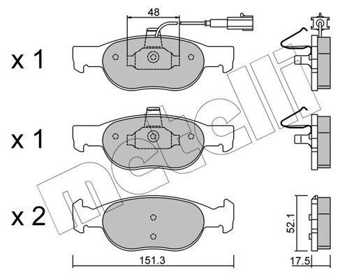 Bremsbelagsatz, Scheibenbremse METELLI 22-0079-0