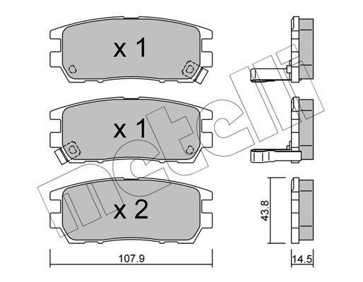 Bremsbelagsatz, Scheibenbremse METELLI 22-0151-0