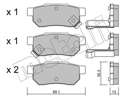 Bremsbelagsatz, Scheibenbremse METELLI 22-0170-1