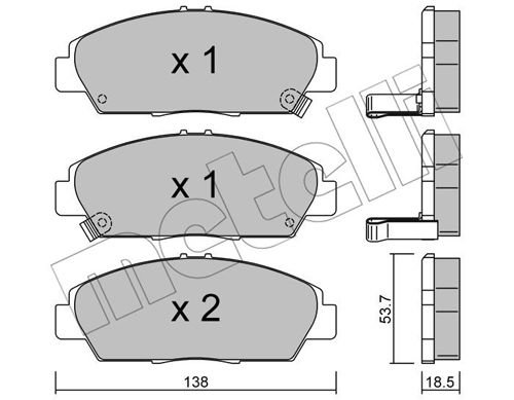 Bremsbelagsatz, Scheibenbremse METELLI 22-0172-0